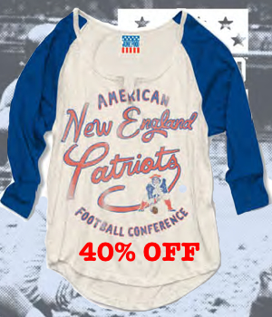 All NFL Raglan sleeves tri-blend t-shirts are now 40% off sale