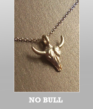 Dogeared Bull Skull Head 14k Gold on the sterling silver Necklace. Gold vermeil or sterling silver