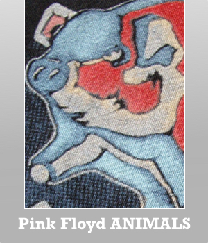 Junk Food Pink Floyd Animals tour t-shirt destroyed for Men