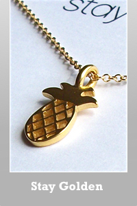 Dogeared 14k gold dipped open pineapple necklace