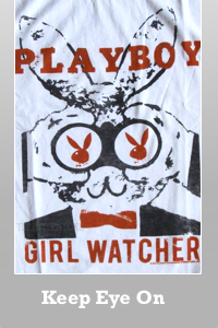 Junk Food Playboy Magazine Girl Watcher T-shirt for Men