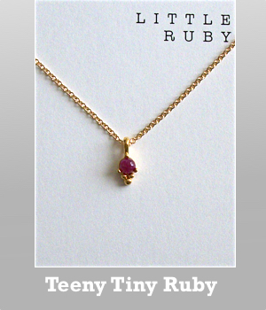Dogeared Little ruby dotted bezel necklace