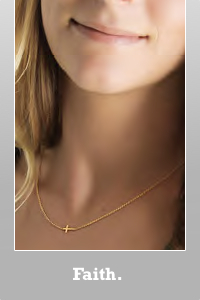 Dogeared Gold dipped Sideway Cross Faith. Necklace