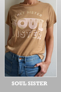 Junk Food Lyric Hey sister soul sister destroyed retro t-shirt