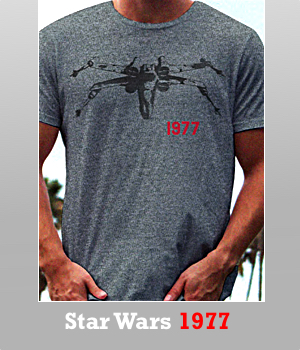Junk Food Star Wars 1977 tri-blend t-shirt for Men