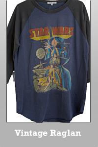 Junk Food Star Wars classic color block raglan vintage finish T-shirt for Men.