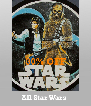 All Mens Star Wars t-shirt are 30% off.