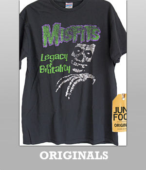 Junk Food Originals The Misfits Legacy of Brutality t-shirt for Men
