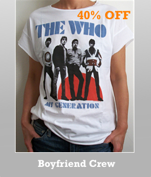 Junk Food The Who Boyfriend T-shirt for women is now 40% off sale. Please see other Sale items.
