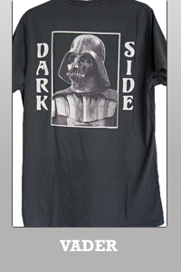 Junk Food Star Wars Vader Dark Night classic short sleeve T-shirt for Men.