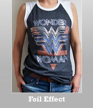 Wonder Woman Rebel Tank Foil print for women