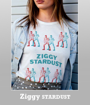 Junk Food David Bowie Ziggy Stardust easy tissue t-shirt for women